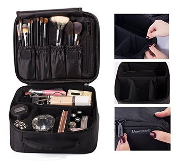 Portable Beauty Case With Makeup Suitcase Make Up Bag Compartments