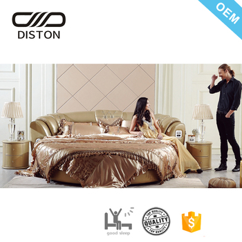 Modern Big Luxury Designs Romantic Couples Choice Round Bed With Speakers