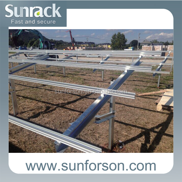 Solar Ground Mounting Pile Mount for Solar Farm Installation