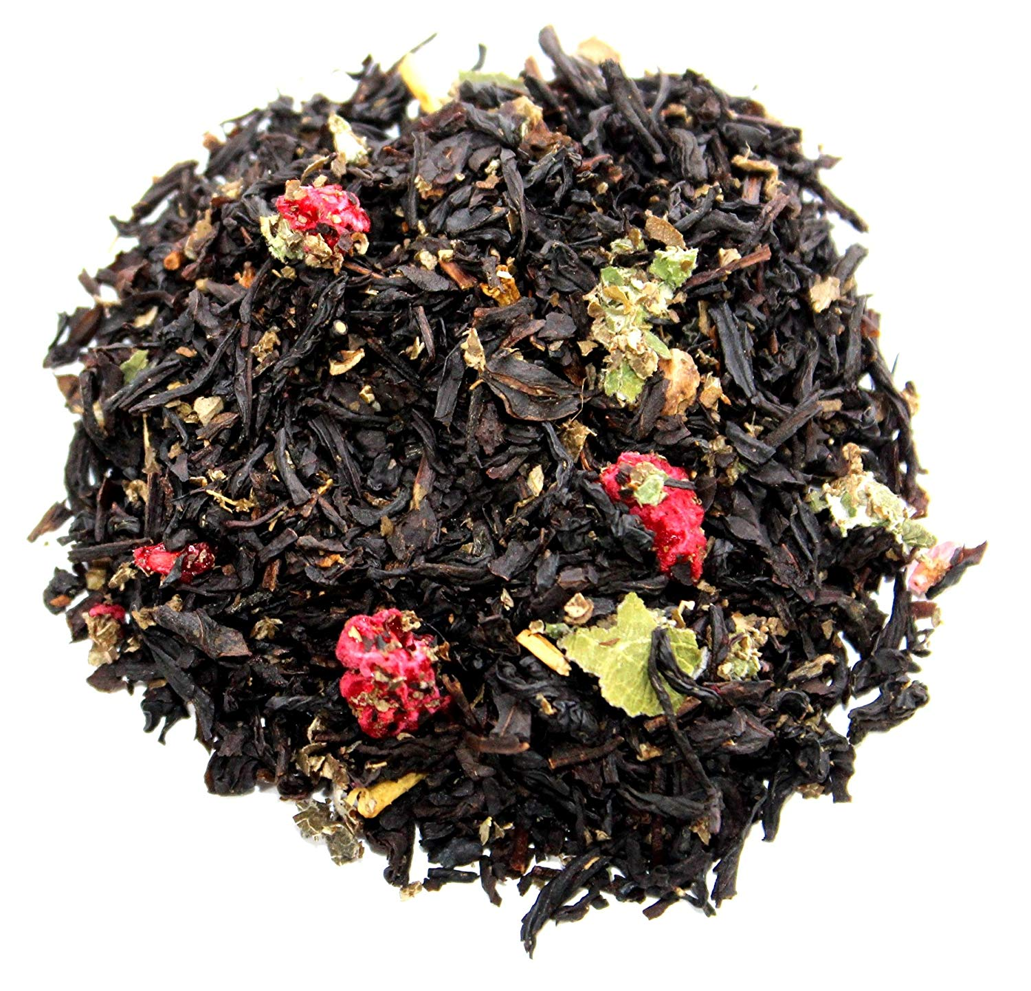 Nelson's Tea Red Raspberry Black Tea Loose Leaf (Looseleaf) (with Black tea, dried raspberries, raspberry leaf, fruit flavoring) (1 lb.) (16 oz.)