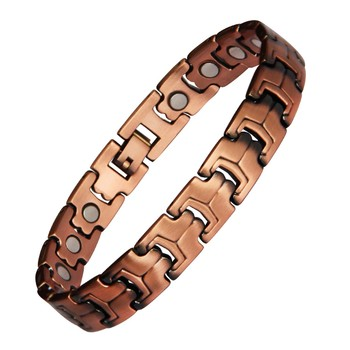 In stock fast delivery no minimum order wholesale copper men's magnetic copper bracelet fashion health bracelet