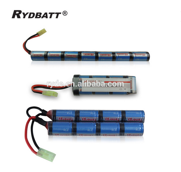 NiMH-9.6V-1600mAh-8S1P small butterfly type with Mini Tamiya Connector High Discharge Platform for Airsoft Guns
