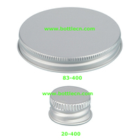 20mm silver aluminum metal screw cap for bottles, containers, test tubes packaging