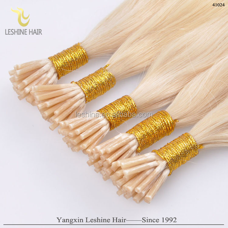 Hair factory direct Deep curly body Indian hair pre bonded I tip extensions hair extensions keratin extension with 24inches