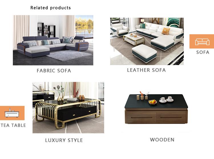 Nouveau style pas cher dernier salon en cuir canapé inclinable 7 places