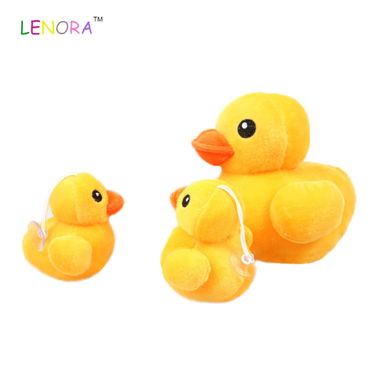 Cute Big yellow duck plush toy mini duck medium and small children's kid crane machine doll promotion gift wholesale Custom OEM