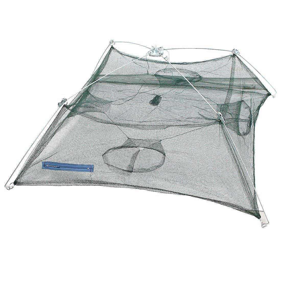 uxcell® Nylon Foldable Shrimp Cast Fishing Umbrella Dip Net 90cmx90cm
