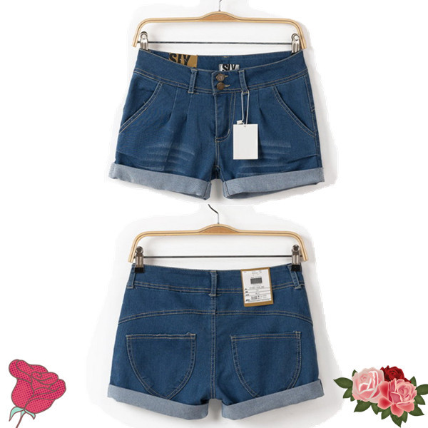2015 New Arrival Fashion Brand Summer style Women Shorts Cotton Short Casual female Slim High Waist Denim Shorts Pure