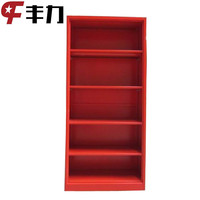 Red Open Door Steel Book Shelf/Metal Filing Cabinet for Library