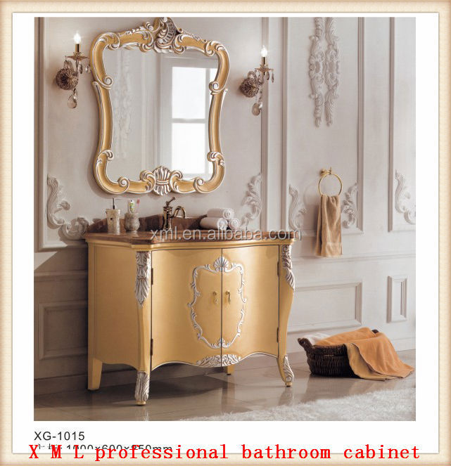 Fashion Marble conter top bathroom vanity unit with mirror /bathroom cabinet set