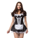 Women Cosplay Black Party Halloween Lolita Fancy Dress Adult Women Sissy Maid Uniform Sexy French Maid Costumes Dress