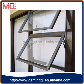 double panels aluminium awning windows for house