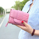 Hot sale luxury high quality crocodile wallet for women