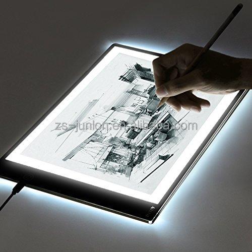 Original JUNLON A2 Drawing Projector Tablet Track pad Painting Plates Copy Tracing Board LED Light Pad