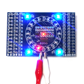 DIY Kit SMD Rotating Flashing LED Components Soldering Practice Board Skill Electronic Circuit