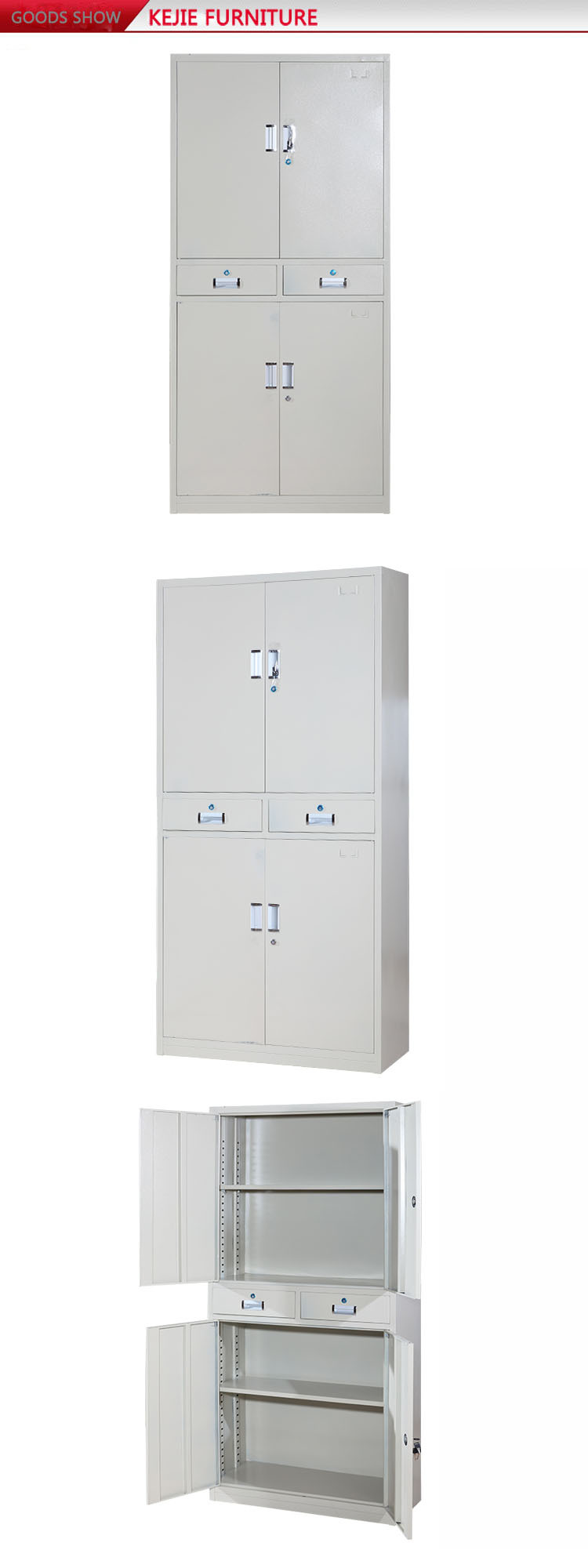 Steel Office Furniture Godrej 4, 3 Drawers Vertical Stainless Steel File  Cabinet Used Metal Filing