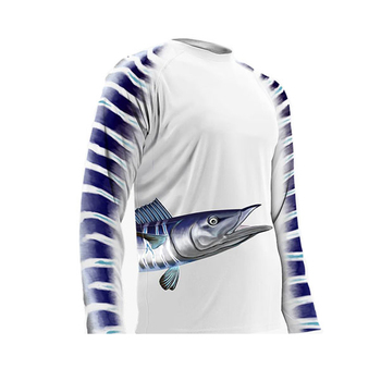 Custom dye sublimation tournament team pattern pro fishing shirt