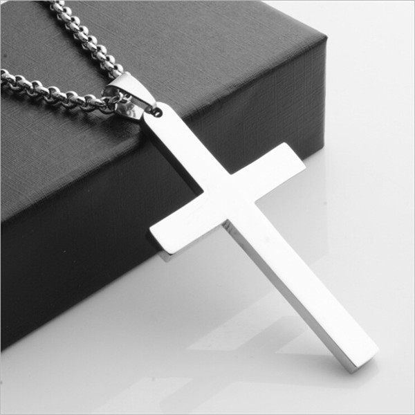 Yiwu Aceon Stainless Steel High polished Fancy Plain Cross Pendant