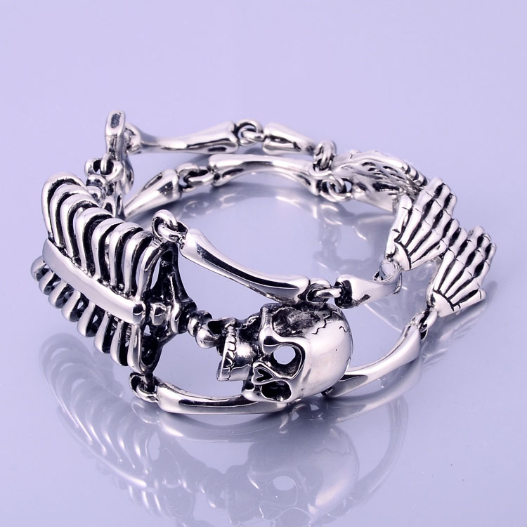 Fashion Jewelry Hign Polishing Quality Stainless Steel Skeleton Bracelet