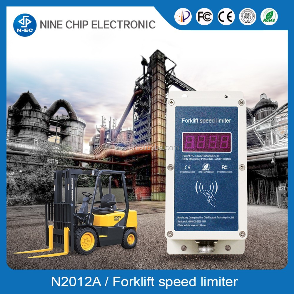Speed limiter for driving forklift truck safety, reduce forklift accident device