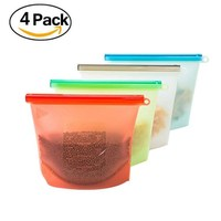 Food Grade Airtight Seal Storage Container Reusable Silicone Food Preservation Storage Bag