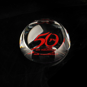 Wholesale crystal clear glass gift dome paperweight