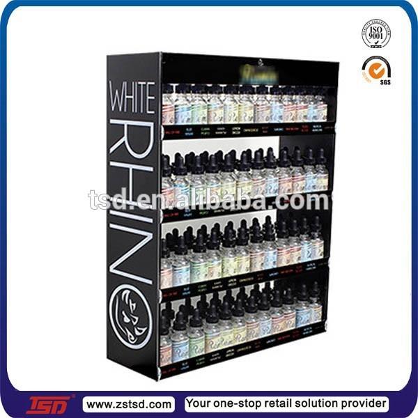 Tsd W499 Custom Retail Wall Mounted Mdf Wood E Liquid Display Case