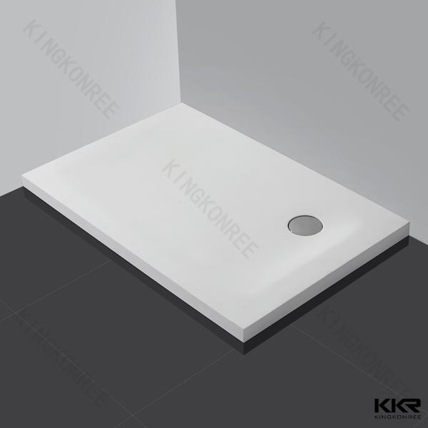 Amazing White Solid Surface Stone Acrylic Shower Base / Cast Stone Shower Tray