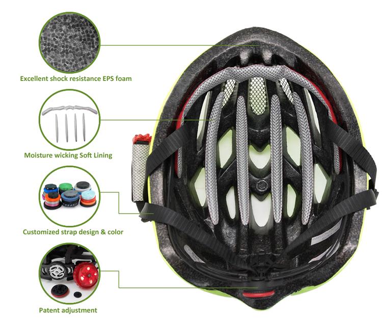Fluorescent Green Road Racing Bike Helmet 10