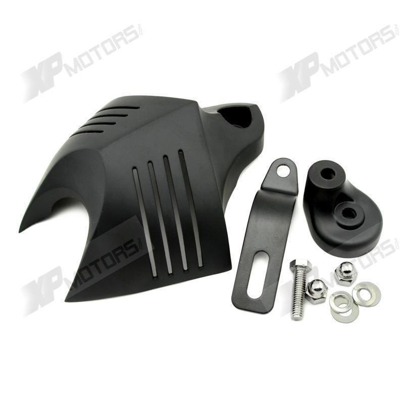 Новое поступление сплав черный V-Shield рог чехол для Harley Softail Fat Boy FLSTF наследия FLSTC 1991-2015