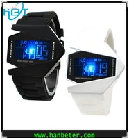 Fashion new aircraft design men/women high quality led watch