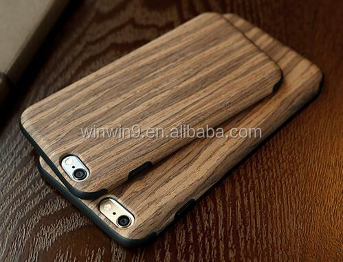 For Wooden Case iPhone6, DIY Blank Hard Back Engraving Optional Wood Bamboo Case Phone Bumper for iPhone 6 6s Plus