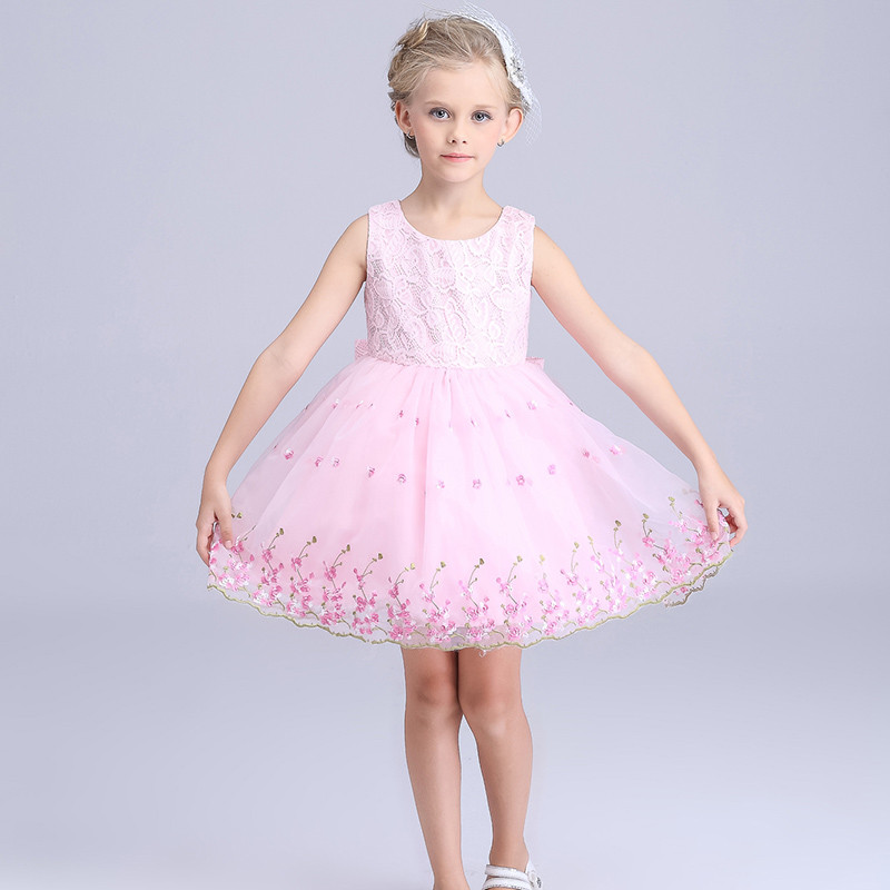 Children Western Party Wear Dress Embroidery Baby Girl Wedding Dress ...
