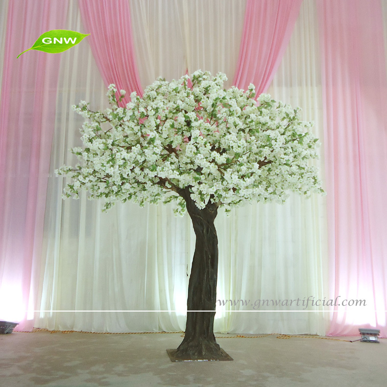 Bls1508 Gnw 8ft Tall Silk Artificial Cherry Blossom Tree With White ...