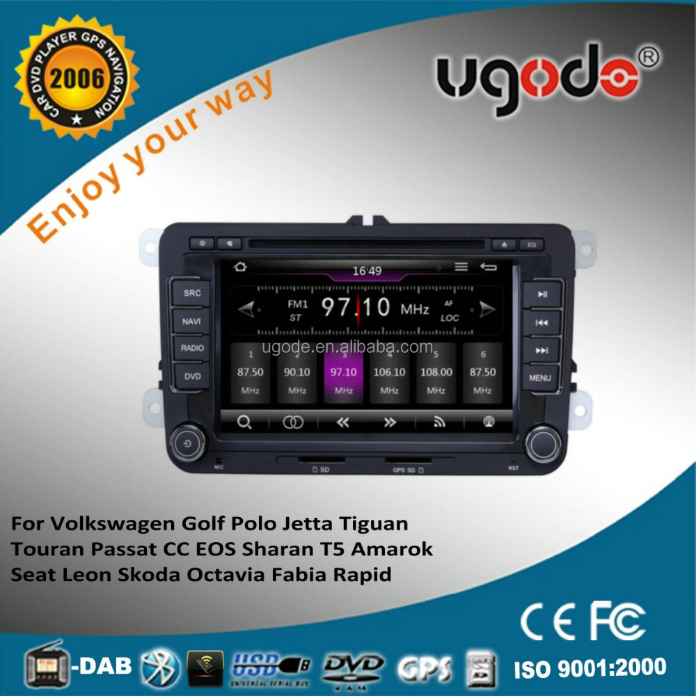 ugode wince 6.0 1GHZ high speed system car dvd gps seat leon car dvd player