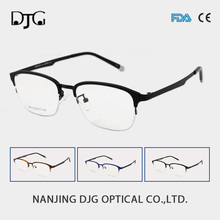Fashion Beautiful Alloy Retro Rectangle Half Frame Optical Glasses For Sale