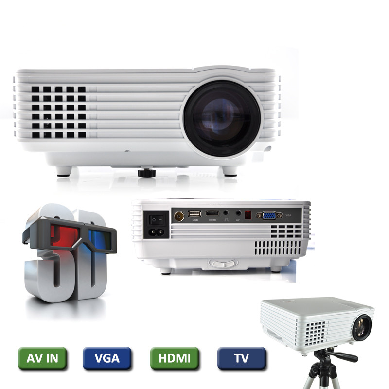 Everycom EC-77 LED <strong>Projector</strong> 1800 lumens 3D full hd hdmi Pico <strong>projector</strong> VGA