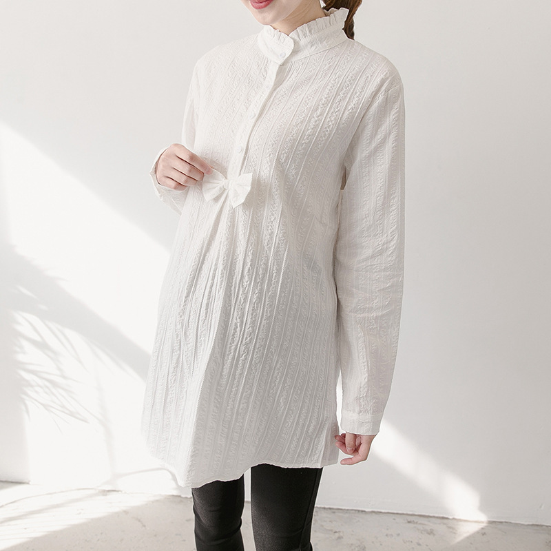 fashion Korean <strong>white</strong> cotton <strong>maternity</strong> clothing <strong>dress</strong>
