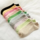 Custom fashion women's sheer color cycling ankle cotton soft socks