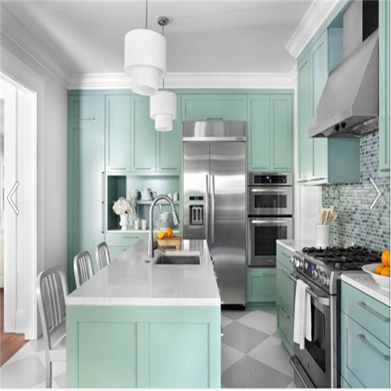 Solid Surface Kitchen Cabinet: Solid Wood Door Panel Surface Treatment And Kitchen