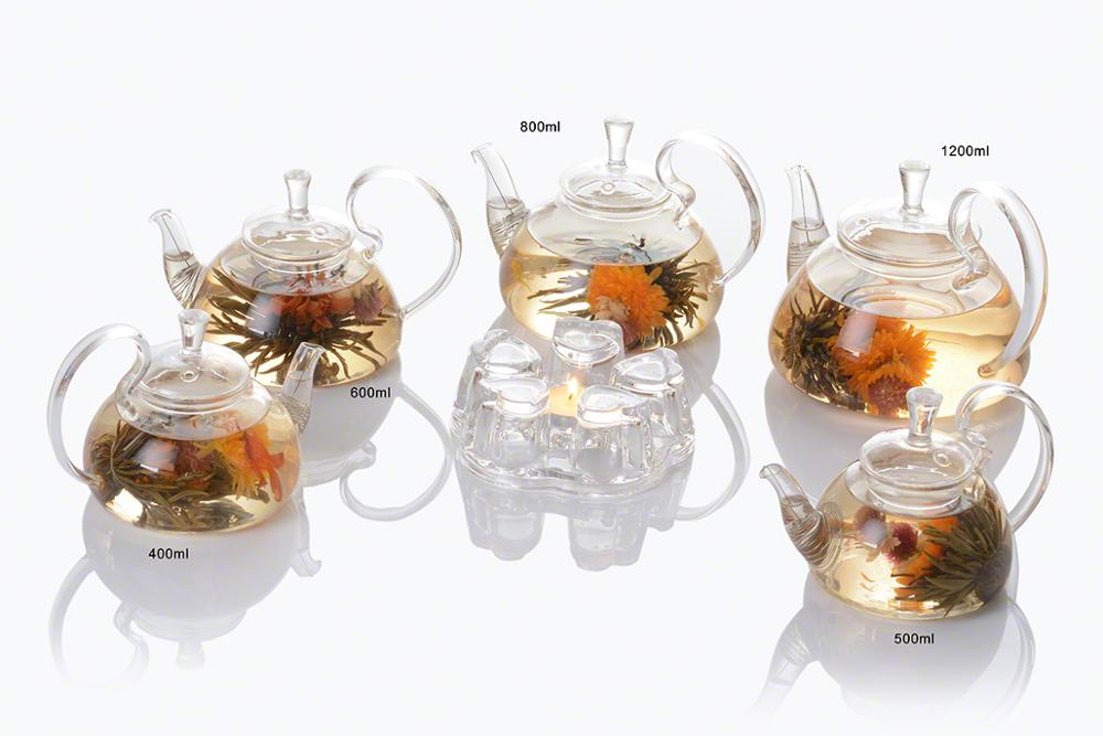 Handmade Borosilicate Clear Glass Teapot With Infuser