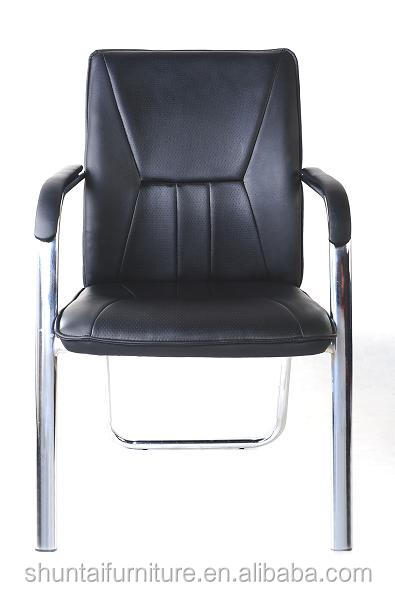 modern brown leather office chair without wheels - buy office