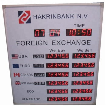 Red Custom 7 Segment Led Display For Exchange Rate Board