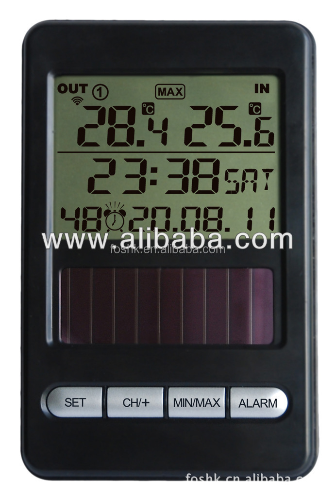 Solar Thermometer 433 MHz Wireless Weather Station