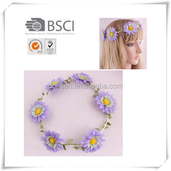 Fashionable purple daisy flower garland bulk indian flower garland