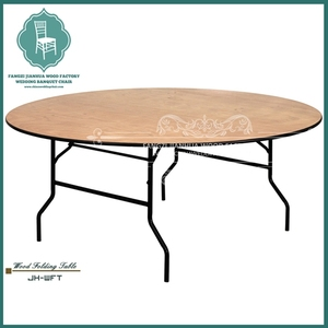 8ft wooden banquet round table for wedding party event
