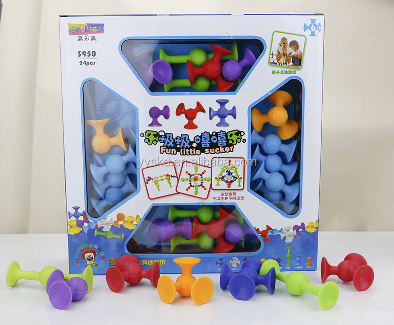2017 educational toy for kids 24 pcs color box fun little sucker toy
