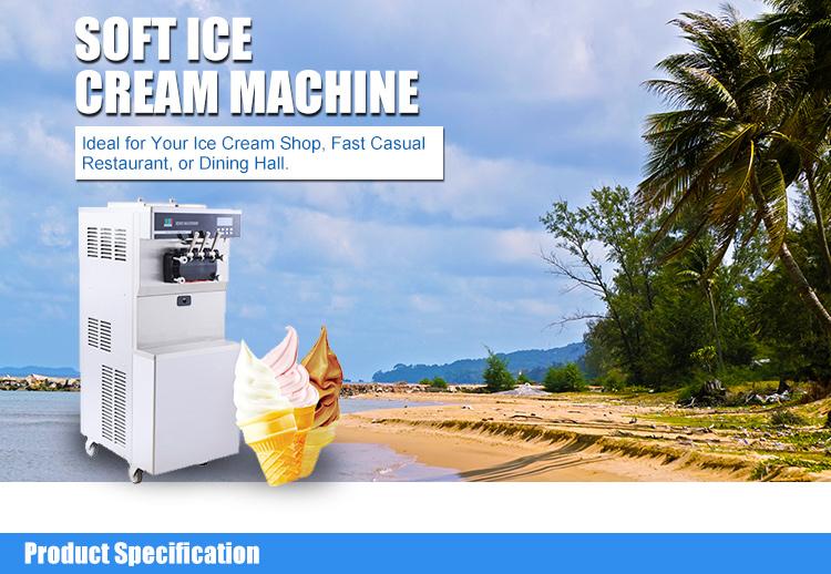 Arbeitsplatte Hochwertige Softeis-Eismaschine mit großer Kapazität