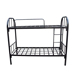 Cheap prices metal iron prison military platform full size twin layers loft bunk bed frame for adults
