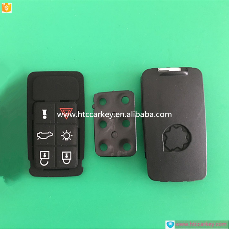 USA Model 6 buttons remote key for Volvo 6 Button car remote key shell